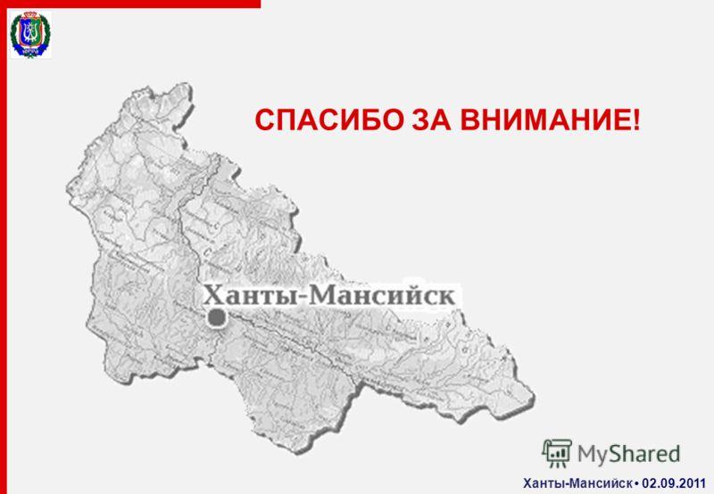 СПАСИБО ЗА ВНИМАНИЕ! Ханты-Мансийск 02.09.2011