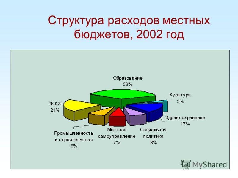 Структура расходов местных бюджетов, 2002 год