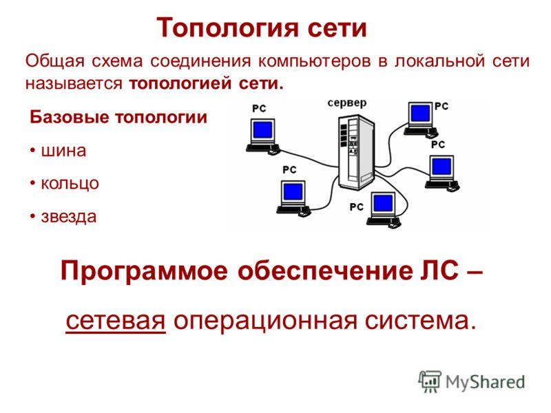 Топология сети Программое