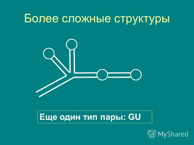 Более сложные структуры Еще один тип пары: GU