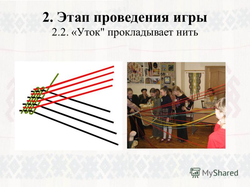 2. Этап проведения игры 2.2. «Уток прокладывает нить