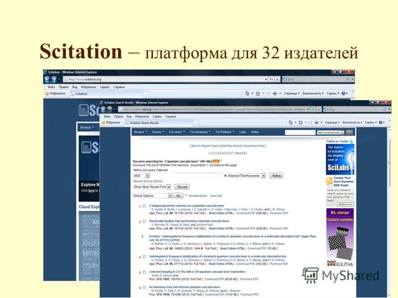 Scitation – платформа для 32 издателей