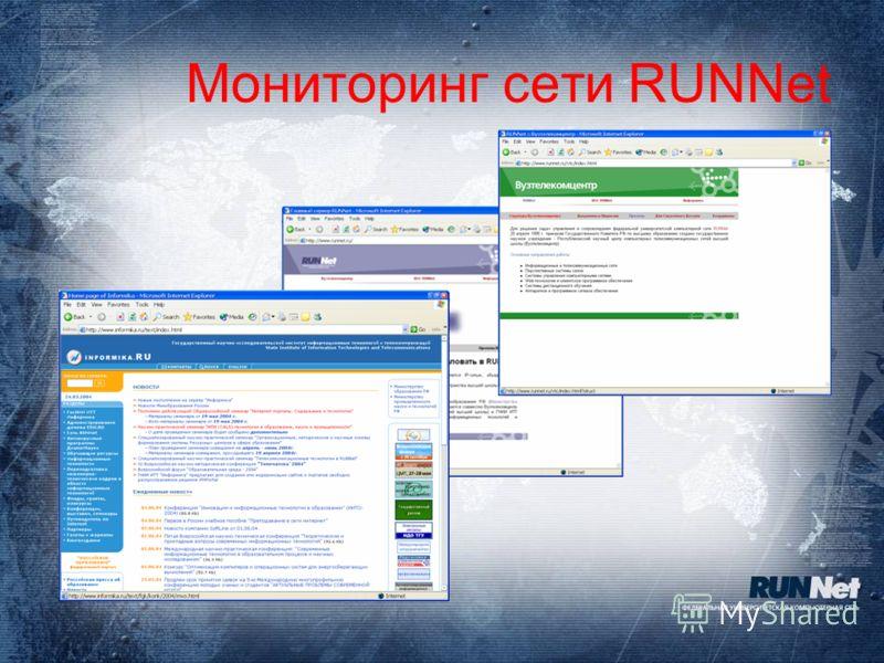 Мониторинг сети RUNNet