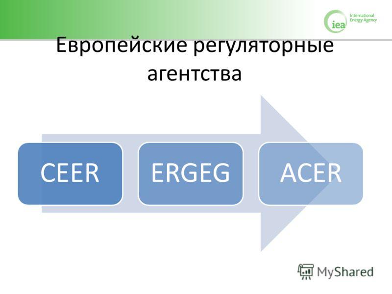 Европейские регуляторные агентства CEERERGEGACER