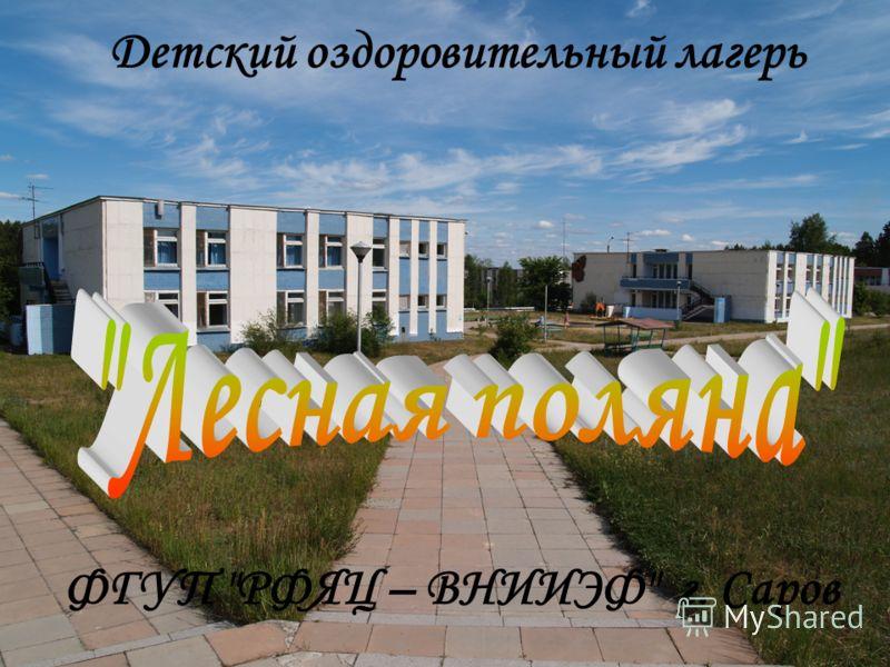 Детский оздоровительный лагерь ФГУП РФЯЦ – ВНИИЭФ г. Саров