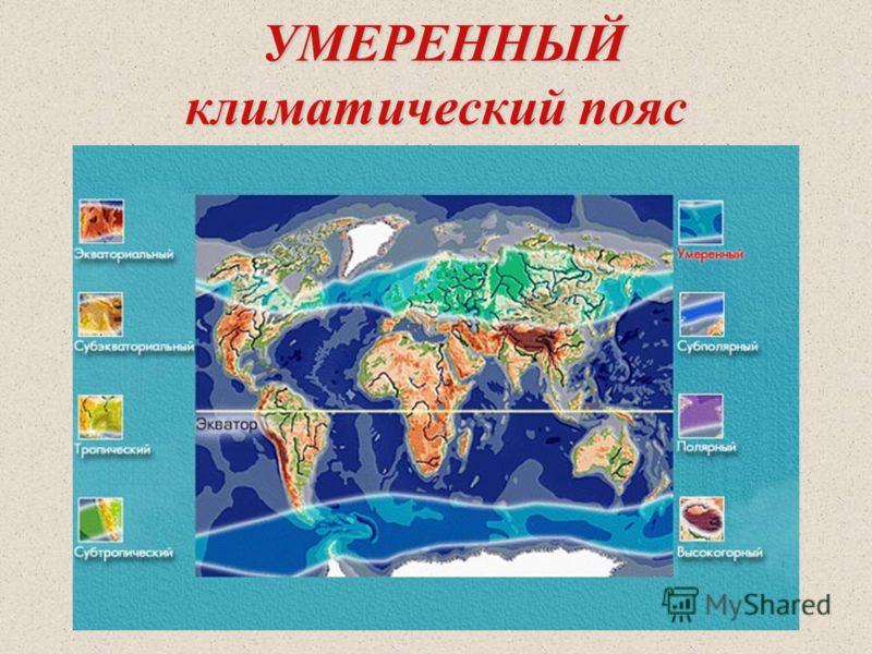 УМЕРЕННЫЙ климатический пояс УМЕРЕННЫЙ климатический пояс