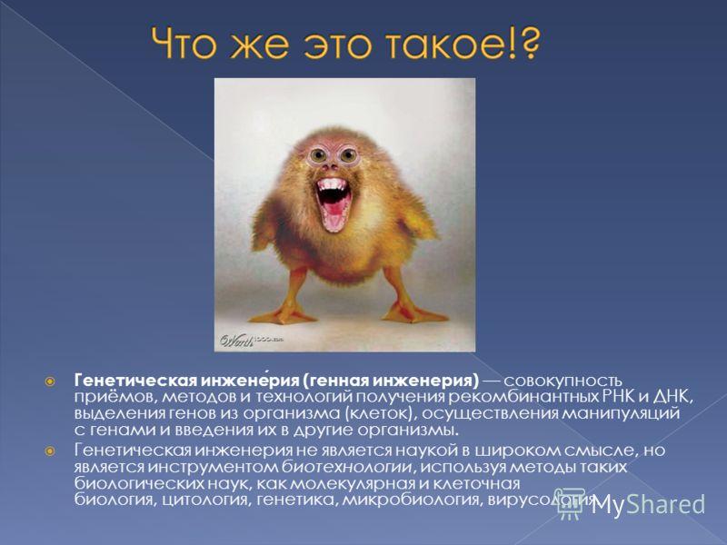 Инженерия Генетическая фото