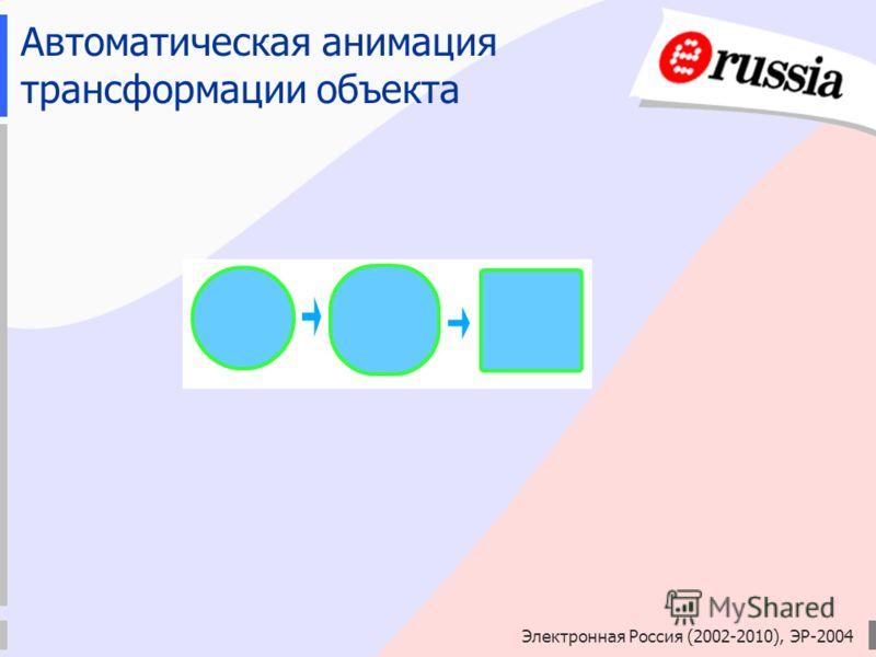Электронная Россия (2002-2010), ЭР-2004 Автоматическая анимация трансформации объекта