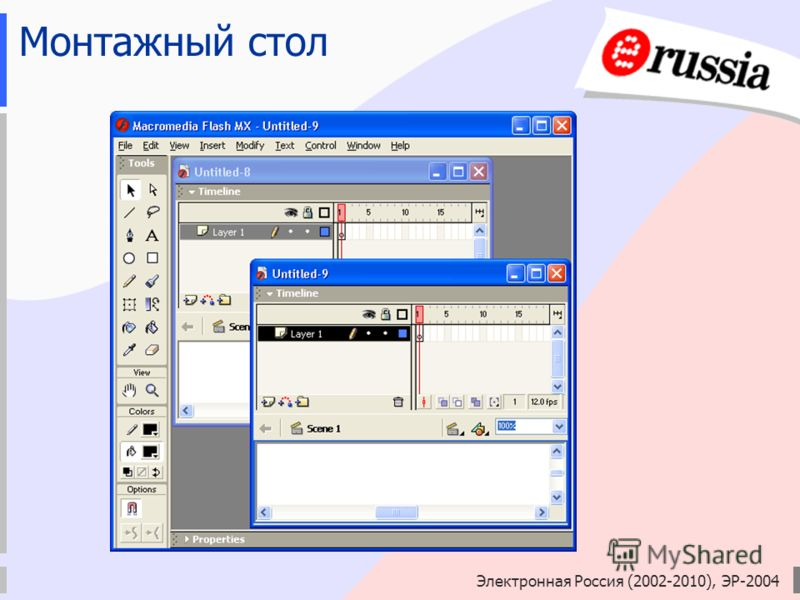 Электронная Россия (2002-2010), ЭР-2004 Монтажный стол