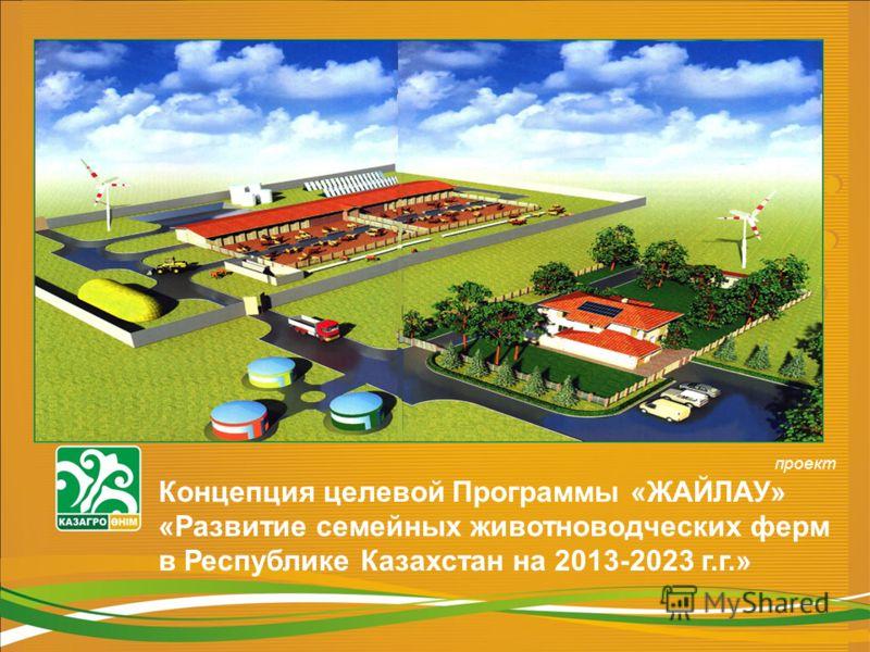 проект Концепция целевой Программы «ЖАЙЛАУ» «Развитие семейных животноводческих ферм в Республике Казахстан на 2013-2023 г.г.»