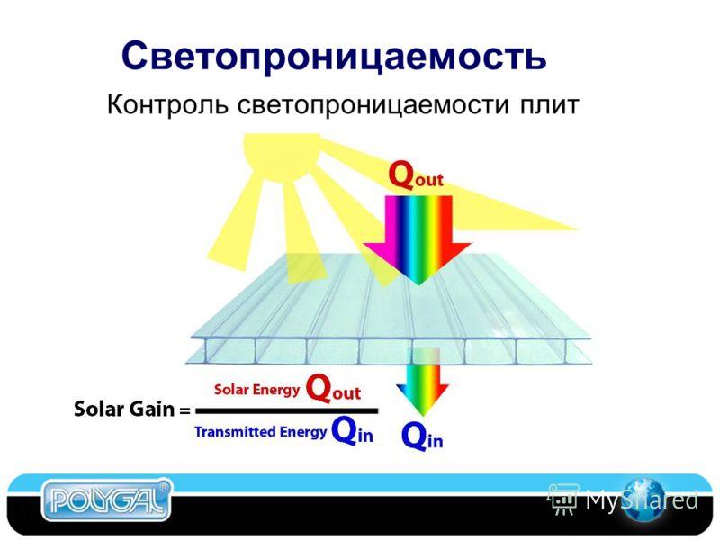 Светопроницаемость Контроль светопроницаемости плит