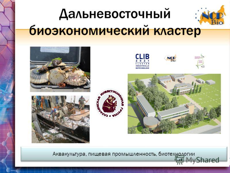 Дальневосточный биоэкономический кластер Аквакультура, пищевая промышленность, биотехнологии