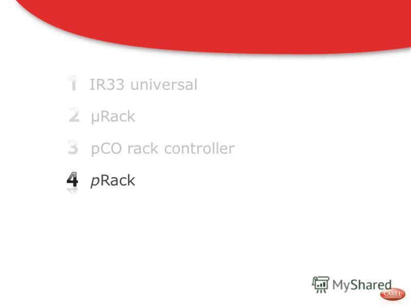 IR33 universal pCO rack controller pRack μRack
