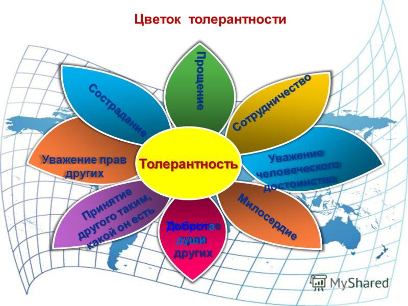 Сотрудничество Прощение Цветок толерантности Доброта души
