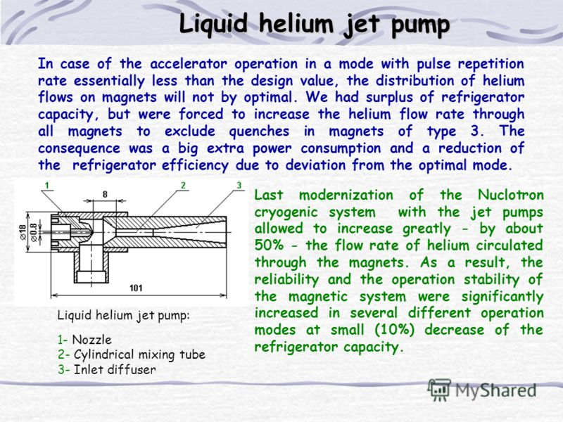 In case of the accelerator operation in a mode with pulse repetition rate essentially less than the design value, the distribution of helium flows on magnets will not by optimal. We had surplus of refrigerator capacity, but were forced to increase th