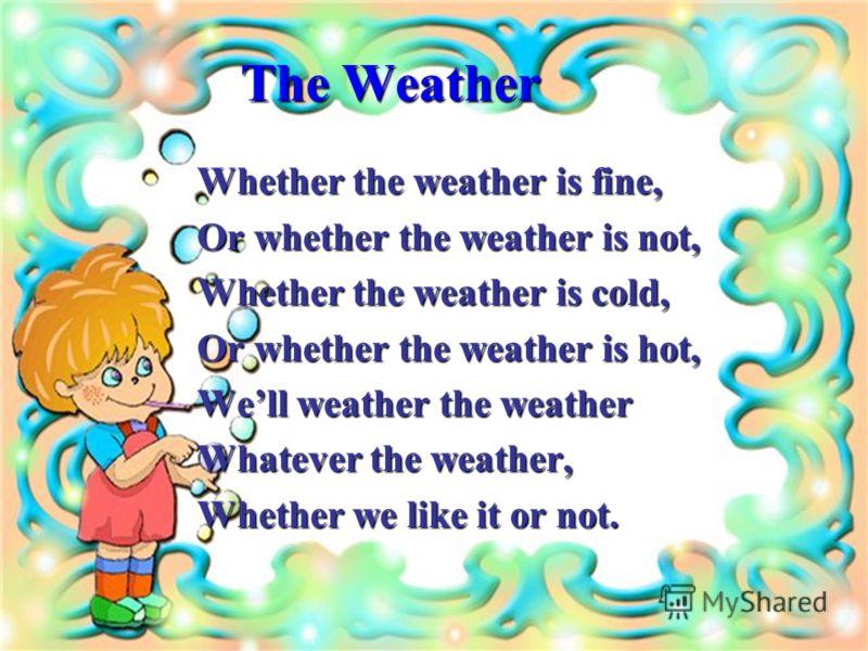 Презентация На Тему Прогноз Погоды На Английском Языке