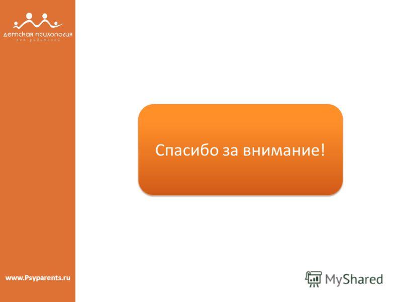 www.Psyparents.ru Спасибо за внимание! Спасибо за внимание!