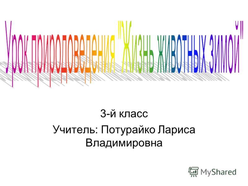 3-й класс Учитель: Потурайко Лариса Владимировна