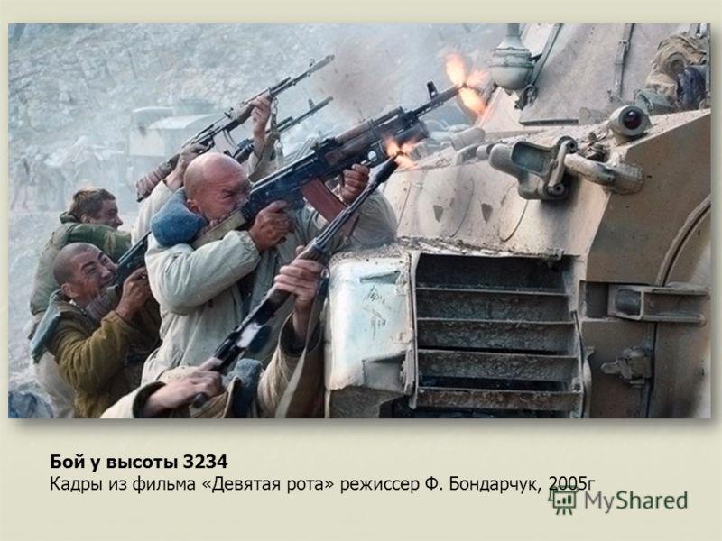 Бой у высоты 3234 Кадры из фильма «Девятая рота» режиссер Ф. Бондарчук, 2005г