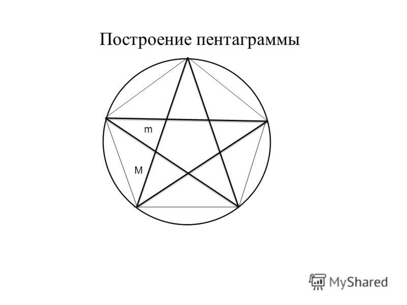 m M Построение пентаграммы