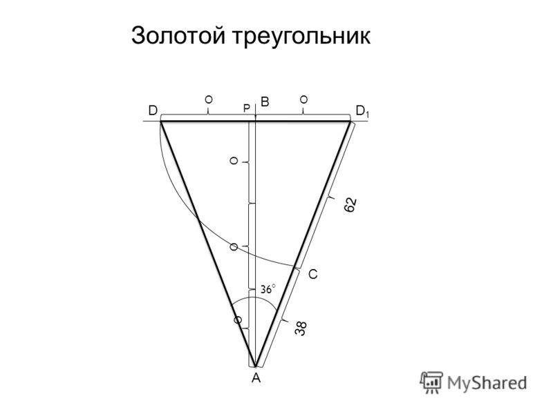 OO P B O O O A C DD1D1 36 Золотой треугольник 62 38