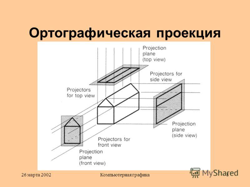26 марта 2002Компьютерная графика8 Ортографическая проекция