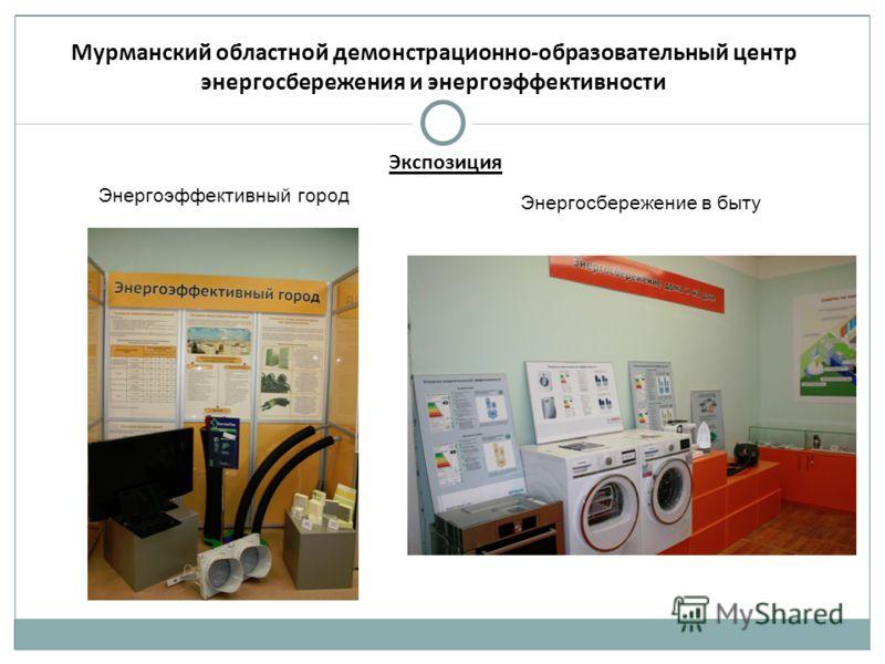 Мурманский областной демонстрационно-образовательный центр энергосбережения и энергоэффективности Энергоэффективный город Энергосбережение в быту Экспозиция