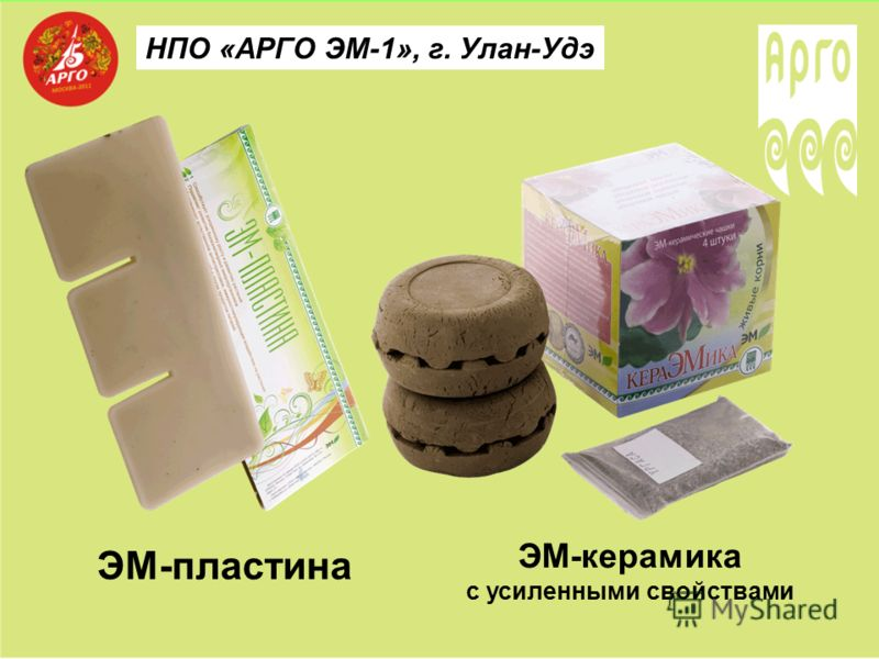 НПО «АРГО ЭМ-1», г. Улан-Удэ ЭМ-пластина ЭМ-керамика с усиленными свойствами