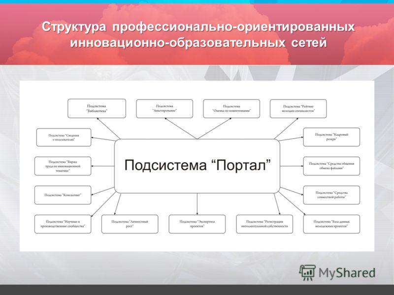 Структура профессионально-ориентированных инновационно-образовательных сетей