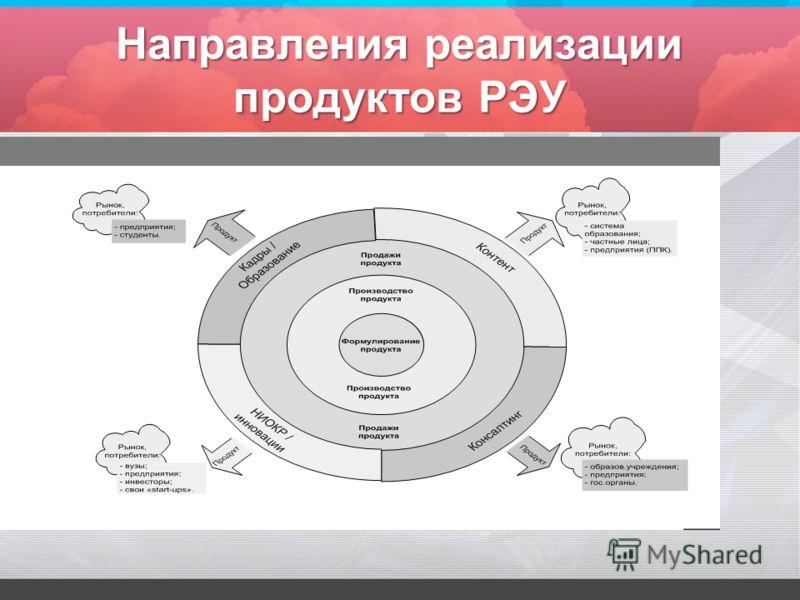 Направления реализации продуктов РЭУ