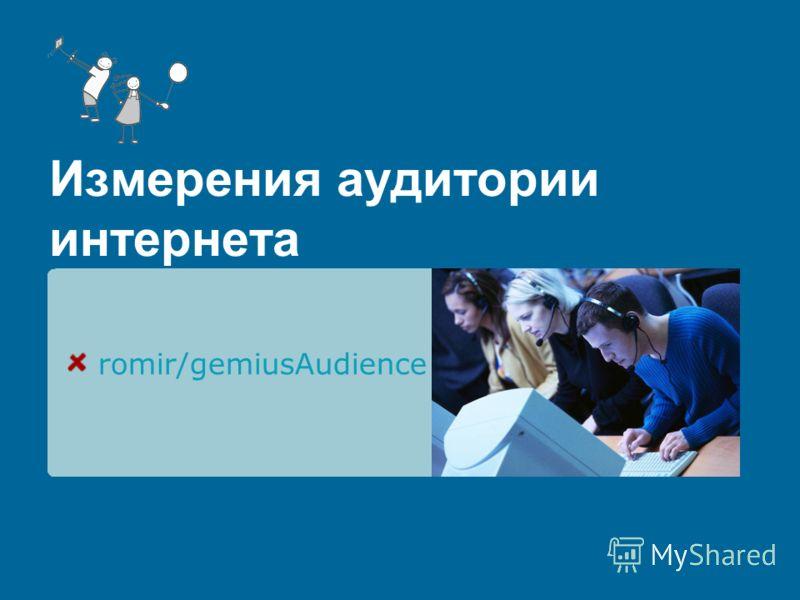 Измерения аудитории интернета romir/gemiusAudience