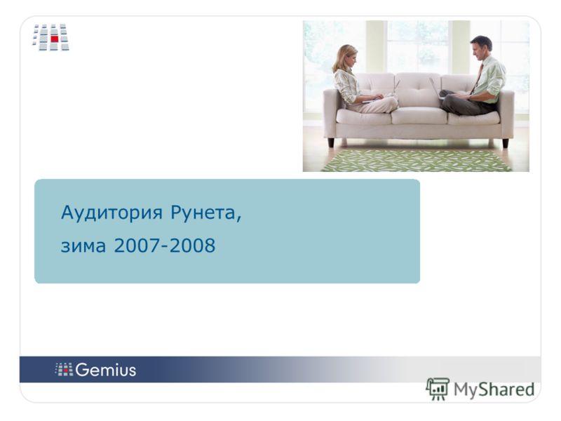 1313 1313 Аудитория Рунета, зима 2007-2008