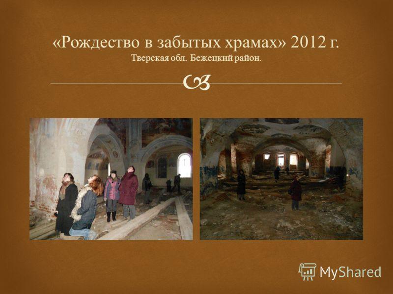 « Рождество в забытых храмах » 2012 г. Тверская обл. Бежецкий район.