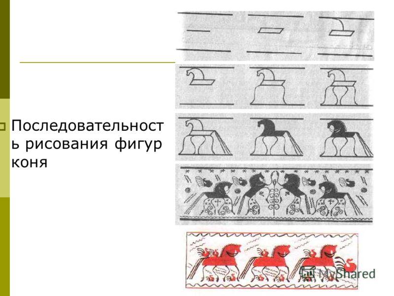 Последовательност ь рисования фигур коня