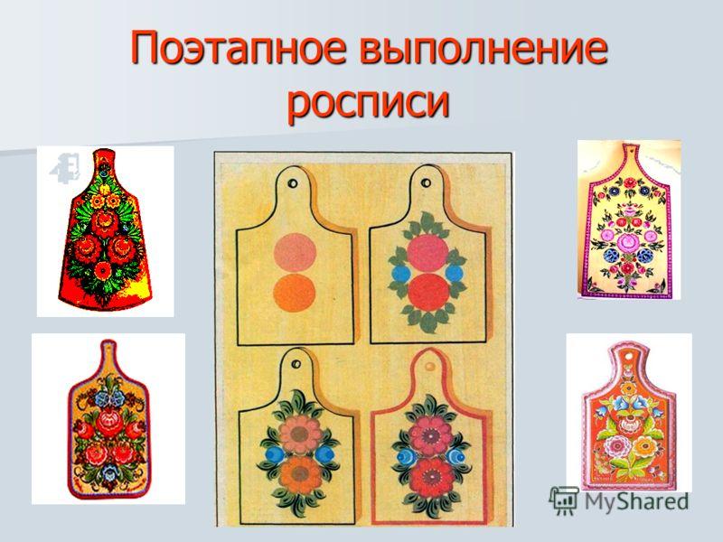 Основные элементы росписи Розан, ромашка, купавка, бутон, листики Розан, ромашка, купавка, бутон, листики