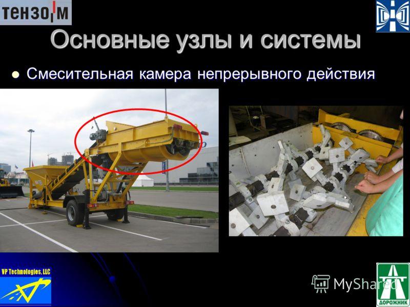 Основные узлы и системы Смесительная камера непрерывного действия Смесительная камера непрерывного действия