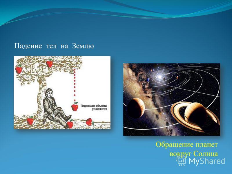 Падение тел на Землю Обращение планет вокруг Солнца