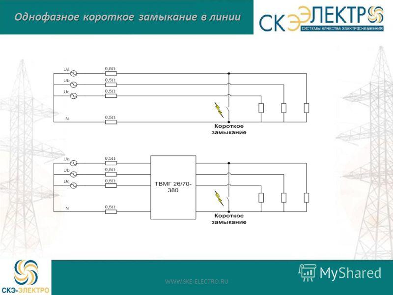 Однофазное короткое замыкание в линии WWW.SKE-ELECTRO.RU