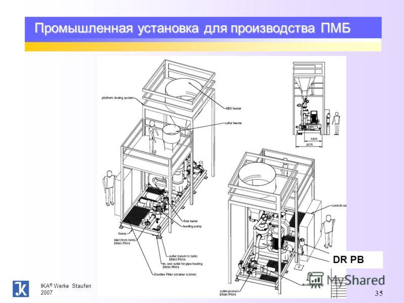 IKA ® Werke Staufen 2007 35 Промышленная установка для производства ПМБ DR PB
