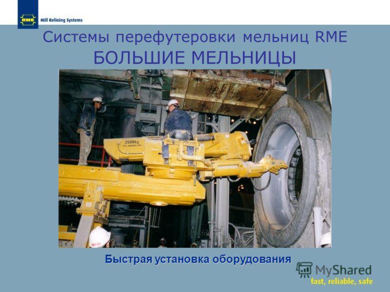 Системы перефутеровки мельниц RME БОЛЬШИЕ МЕЛЬНИЦЫ