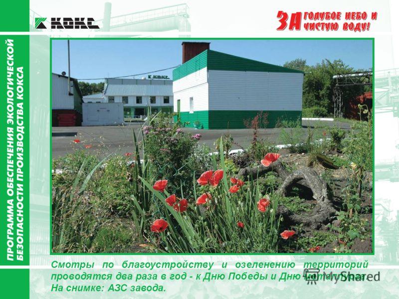 Смотры по благоустройству и озеленению территорий проводятся два раза в год - к Дню Победы и Дню металлурга. На снимке: АЗС завода.