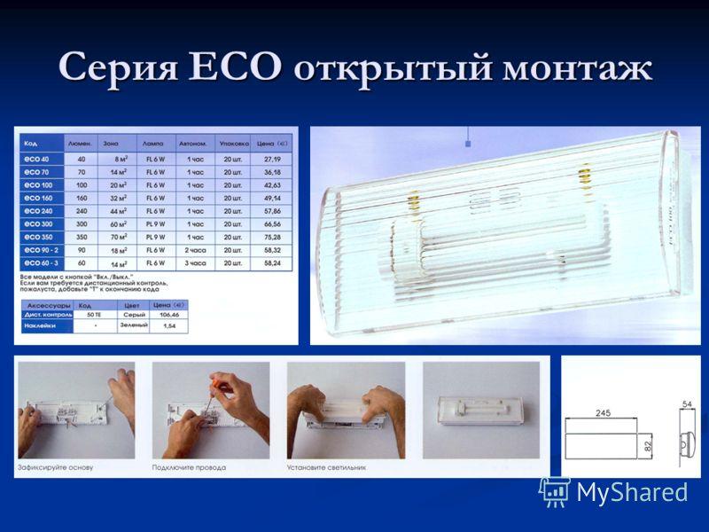 Серия ECO открытый монтаж