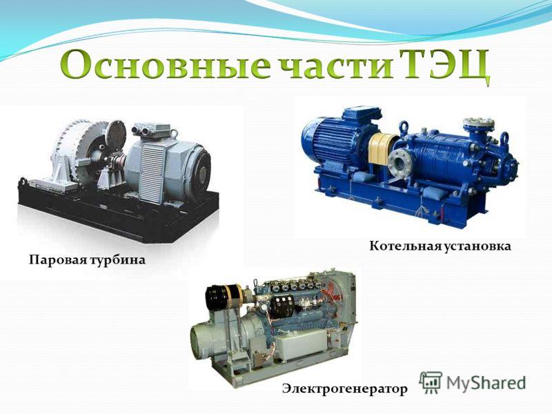 Котельная установка Электрогенератор Паровая турбина