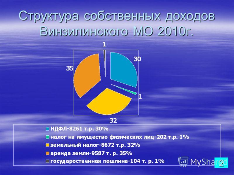 Структура собственных доходов Винзилинского МО 2010г. 2