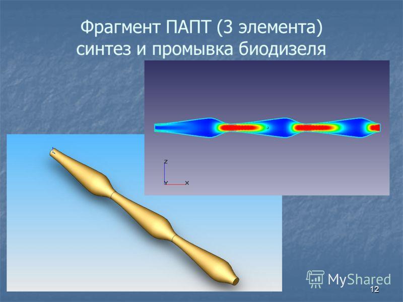 Фрагмент ПАПТ (3 элемента) синтез и промывка биодизеля 12