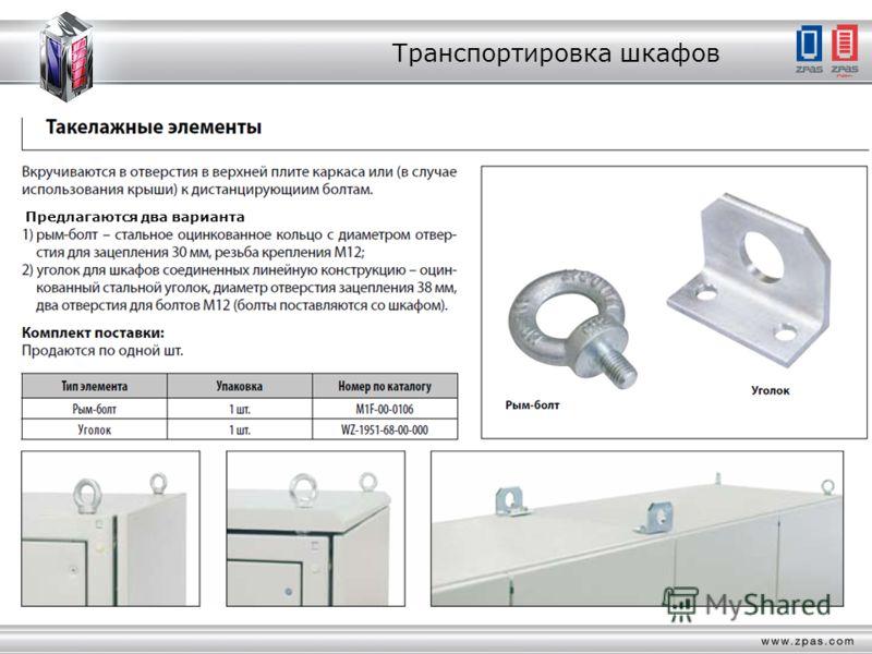 Транспортировка шкафов Предлагаются два варианта
