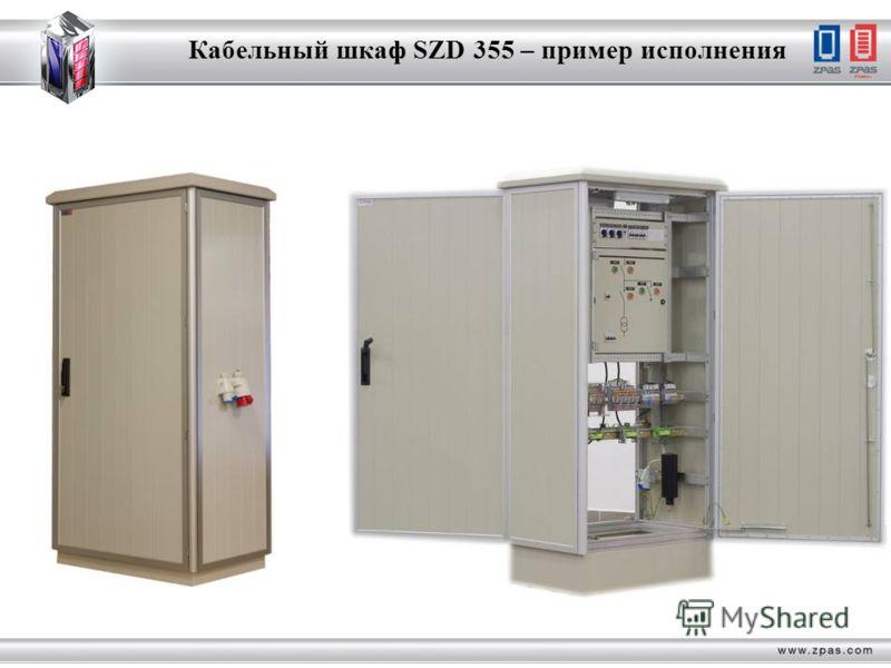 Кабельный шкаф SZD 355 – пример исполнения