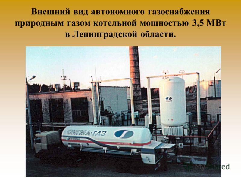 Внешний вид автономного газоснабжения природным газом котельной мощностью 3,5 МВт в Ленинградской области.