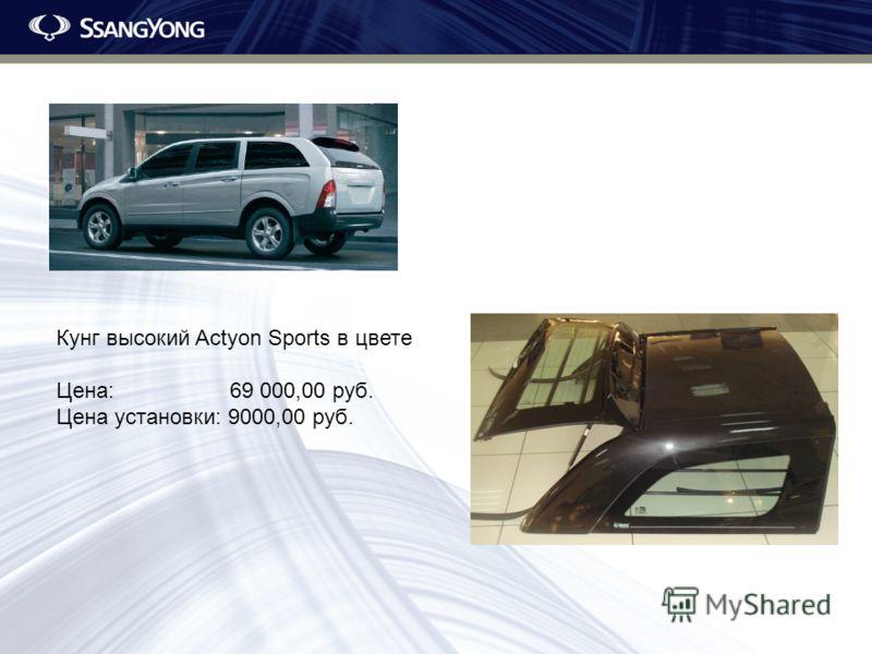 Кунг высокий Actyon Sports в цвете Цена: 69 000,00 руб. Цена установки: 9000,00 руб.