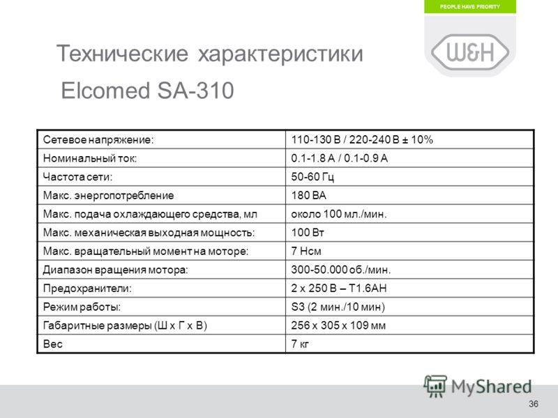 36 Технические характеристики Сетевое напряжение:110-130 В / 220-240 В ± 10% Номинальный ток:0.1-1.8 А / 0.1-0.9 А Частота сети:50-60 Гц Макс. энергопотребление180 ВА Макс. подача охлаждающего средства, млоколо 100 мл./мин. Макс. механическая выходна
